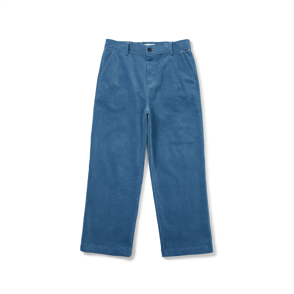 [FW20] Big Corduroy Straight Pants(Blue) 스테레오 바이널즈[FW20] Big Corduroy Straight Pants(Blue)