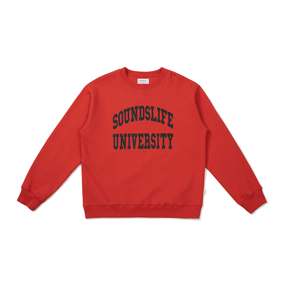 [FW20 Sounds Life] College Sweatshirt(Orange) 스테레오 바이널즈[FW20 Sounds Life] College Sweatshirt(Orange)