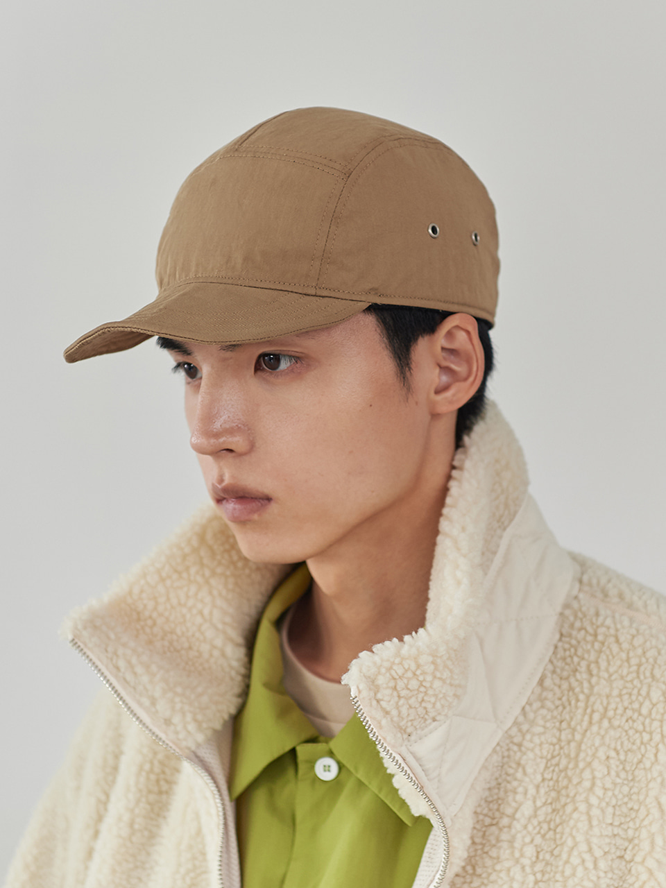 스테레오 바이널즈 - [FW20] Reversible Fleece Field Cap(Brown)